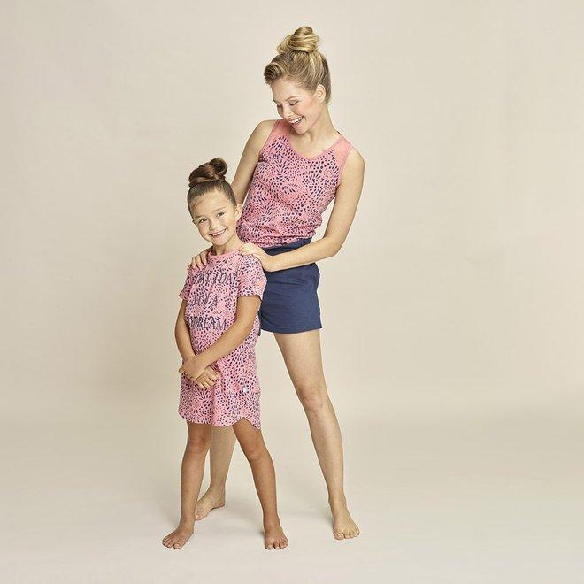 Charlie Choe Dames Pyjama Tanktop Roze Blauw