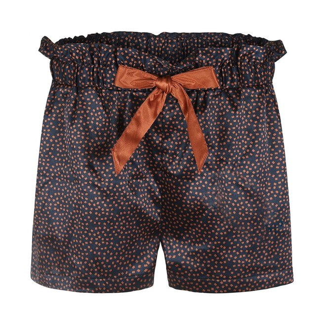 Charlie Choe Dames Pyjama Short Blauw Cognac (geen paperbag model)