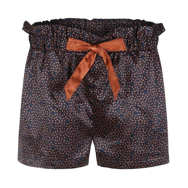 Charlie Choe Ladies Pyjama Short Blue Cognac