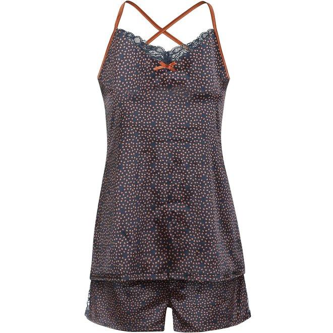 Charlie Choe Damen Shorts Blau Cognac