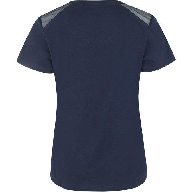 Charlie Choe Ladies Pyjama T-shirt Blue Beige