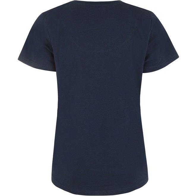 Charlie Choe Damen Pyjama T-shirt Blau