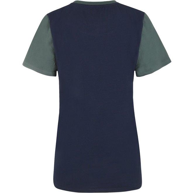 Charlie Choe Herren Pyjama T-Shirt Grün Blau Hai