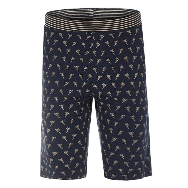 Charlie Choe Men's Pyjama Short Blue Palm Trees