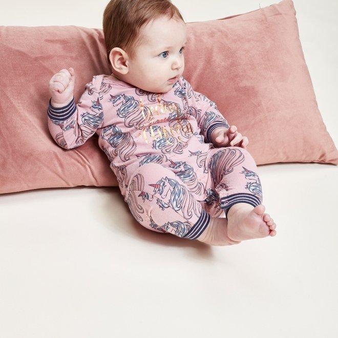 Charlie Choe Baby Mädchen Rosa Einhorn Pyjamas