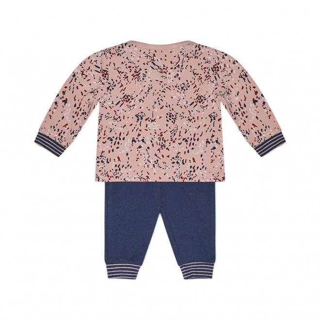 Charlie Choe Baby Mädchen Pyjama Set Rosa Blau