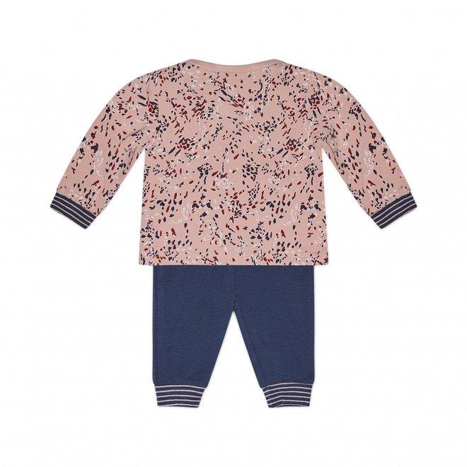 Charlie Choe Baby Meisjes Pyjama Lounge Set Roze Blauw