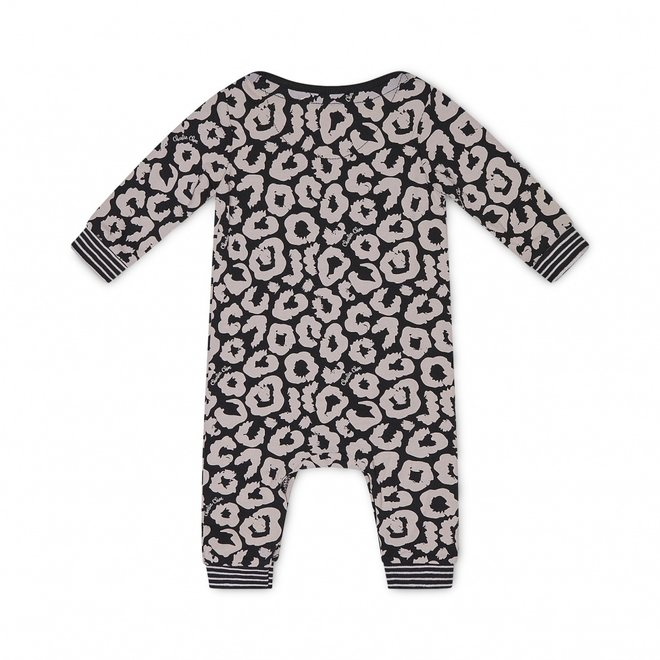 Charlie Choe Baby Mädchen Pyjamas Schwarz Rosa Panther