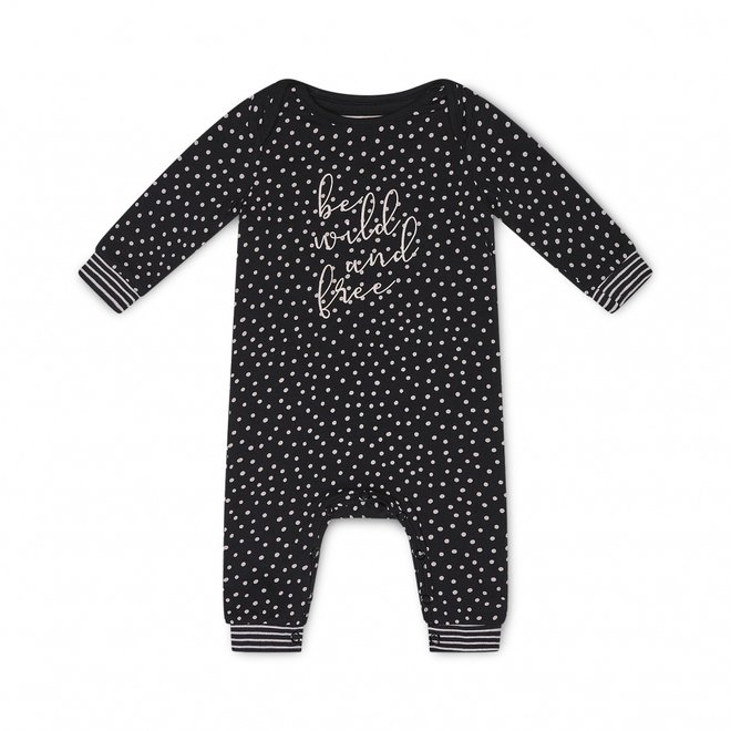 Charlie Choe Baby Meisjes Pyjama Zwart Roze Stippen