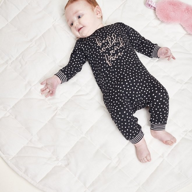 Charlie Choe Baby Girl Pyjamas Black Pink Dots