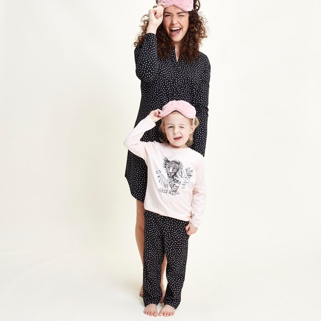 Charlie Choe Baby Girl Pyjamas Black Panther