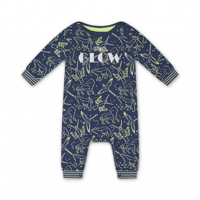 Charlie Choe Baby Unisex Pyjama Blauw Mini Me Sterrenstelsel