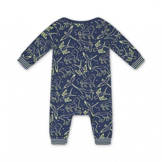 Charlie Choe Baby Unisex-Pyjamas Blau Mini Me Star System