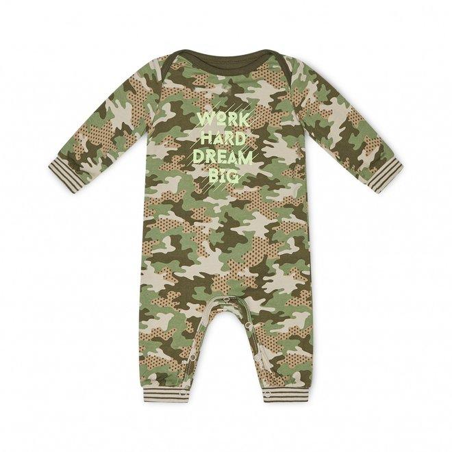 Charlie Choe Baby Jongens Pyjama Groen Camouflage