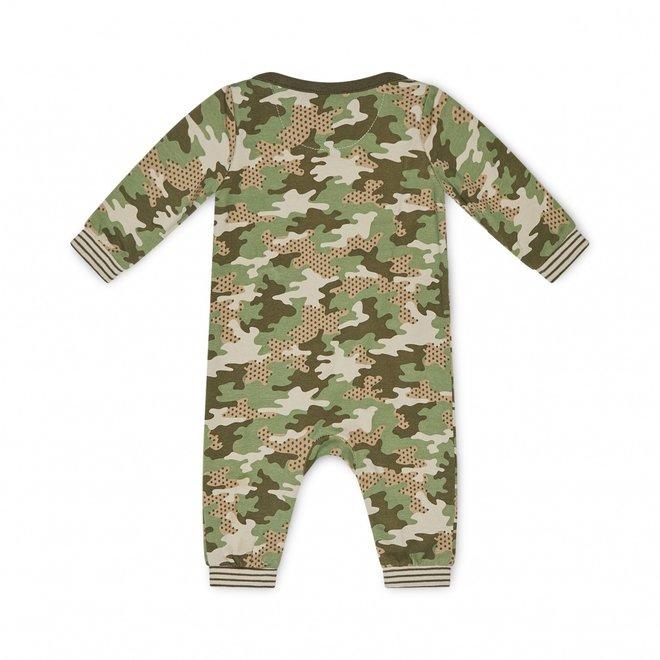 Charlie Choe Baby Junge Pyjamas Grün Tarnmuster