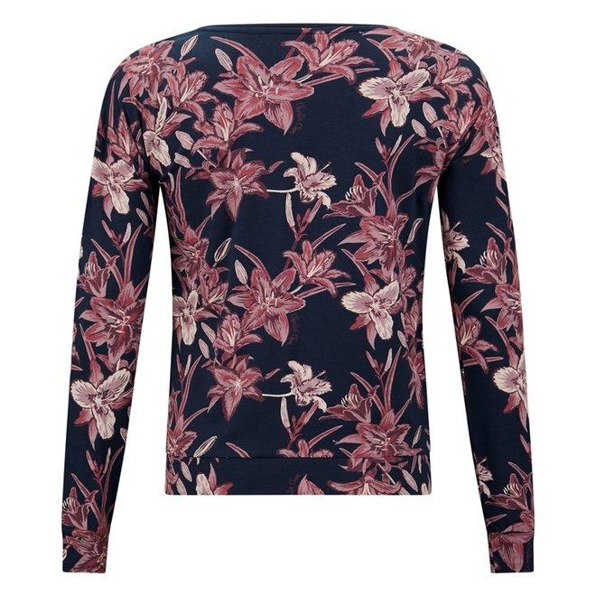 Charlie Choe Damen Pyjama Shirt Pullover Blau Lily