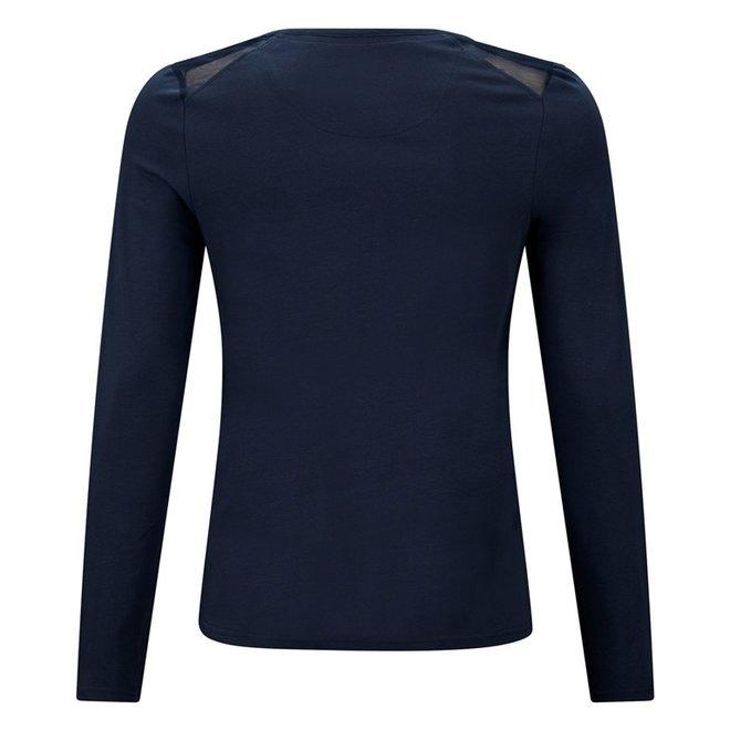 Charlie Choe Ladies Pyjama Shirt Blue Lily