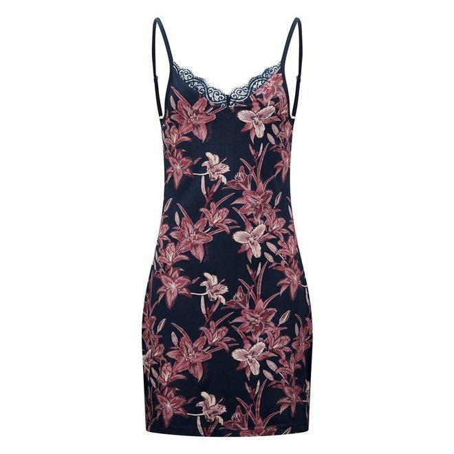 Charlie Choe Damen Nachthemd Slipdress Blue Lily