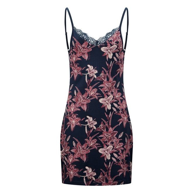 Charlie Choe Ladies Nightshirt Slipdress Blue Lily