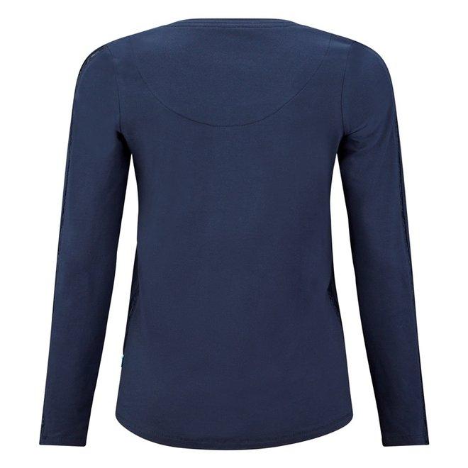 Charlie Choe Dames Pyjama Shirt Blauw