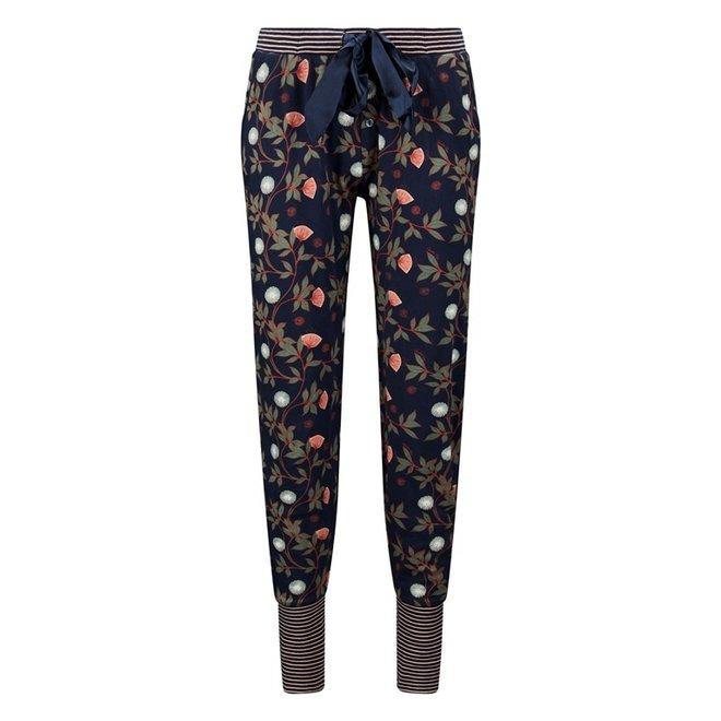 Charlie Choe Damen Pyjamahose Blaue Blumen