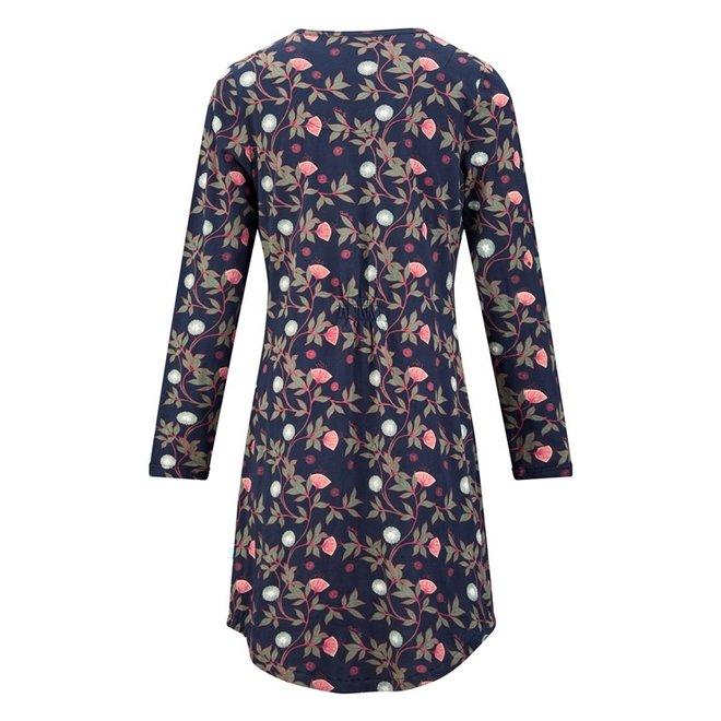 Charlie Choe Damen Nachthemd Blaue Blumen