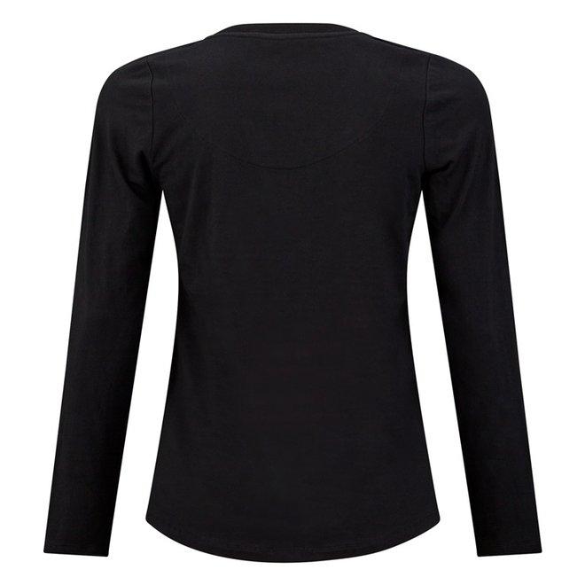 Charlie Choe Ladies Pyjama Shirt Black