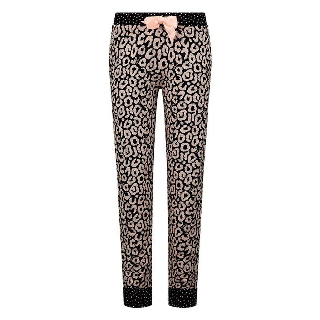 Charlie Choe Ladies Pyjama Pants Black Pink Panther