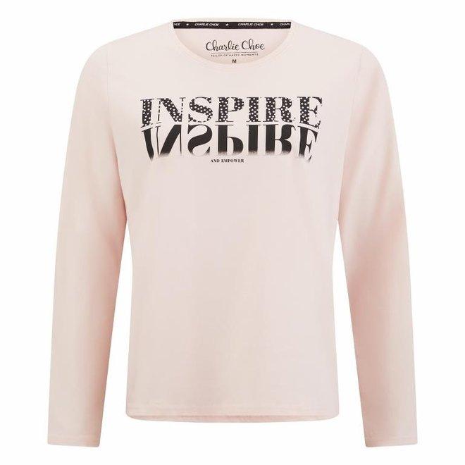 Charlie Choe Ladies Pyjama Shirt Pink