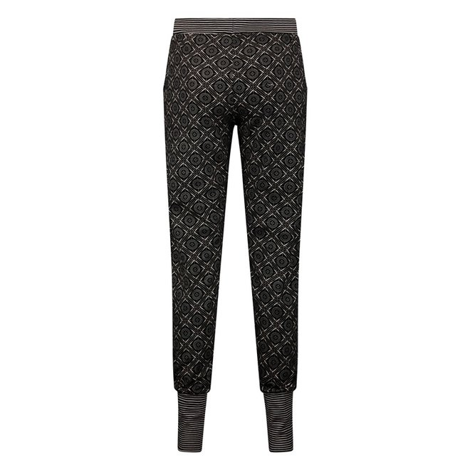 Charlie Choe Dames Pyjamabroek Zwart Roze
