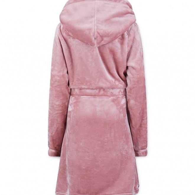 Charlie Choe Dames Badjas Roze - Kort Model