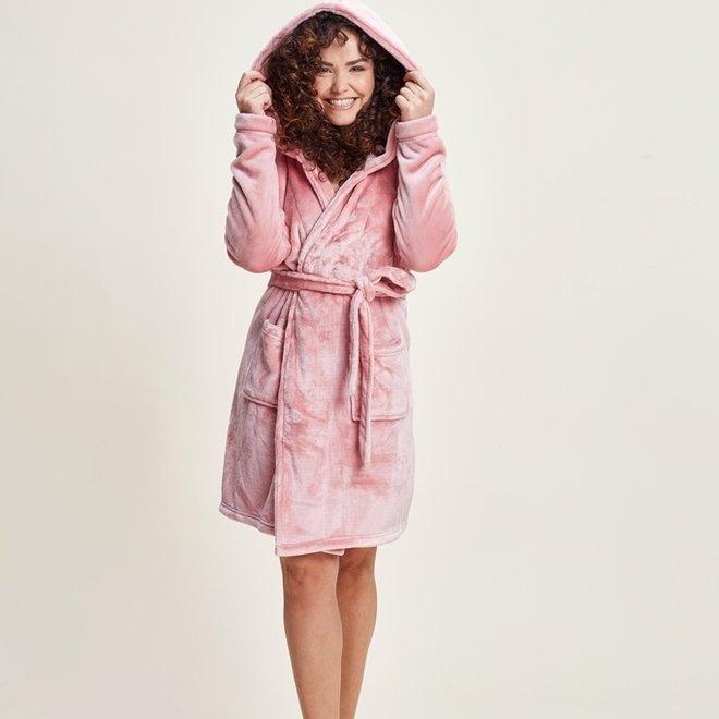 Charlie Choe Ladies Bathrobe Pink - Short Style