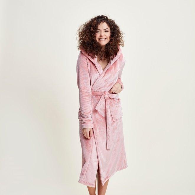 Charlie Choe Damen Bademantel Rosa - Langes Modell