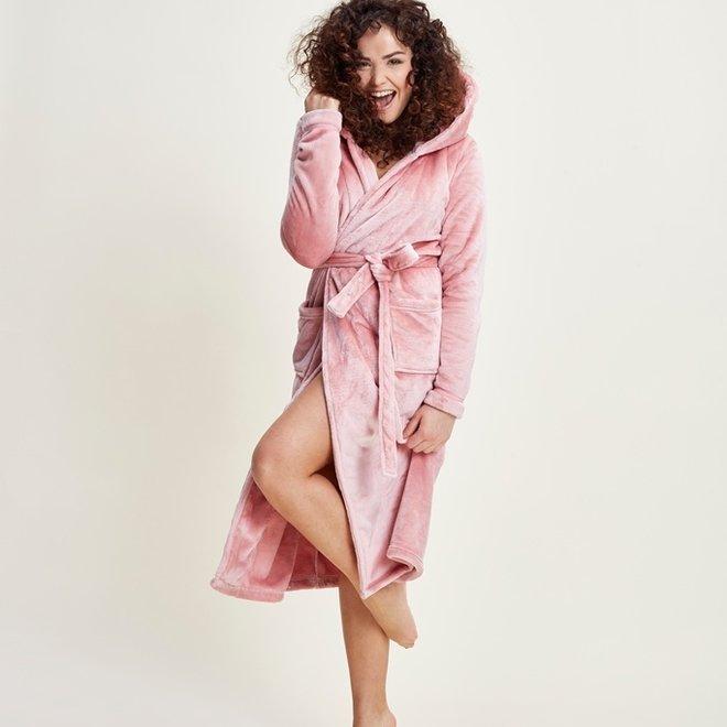 Charlie Choe Ladies Bathrobe Pink - Long Model