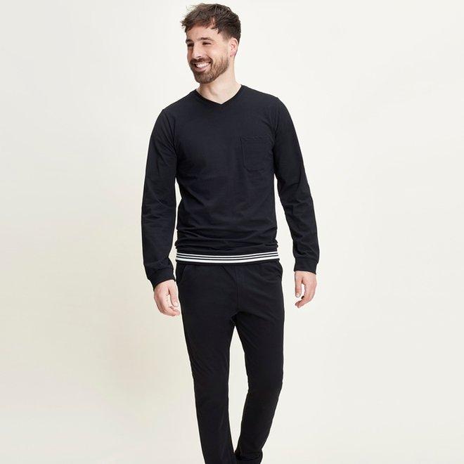 Charlie Choe Heren Pyjamabroek Zwart