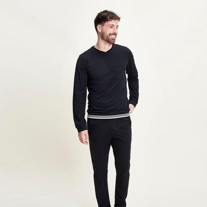 Charlie Choe Men's Pyjama Shirt Pullover Black