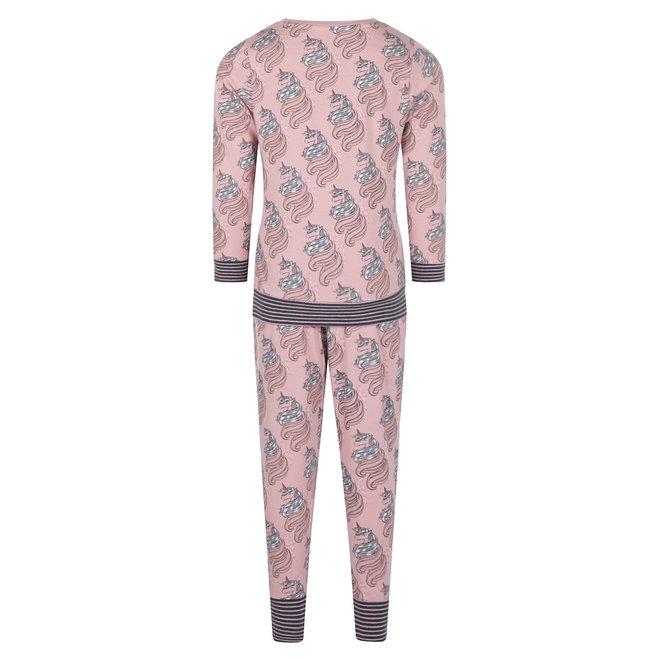 Charlie Choe Meisjes Pyjama Roze Lounge Set Unicorn
