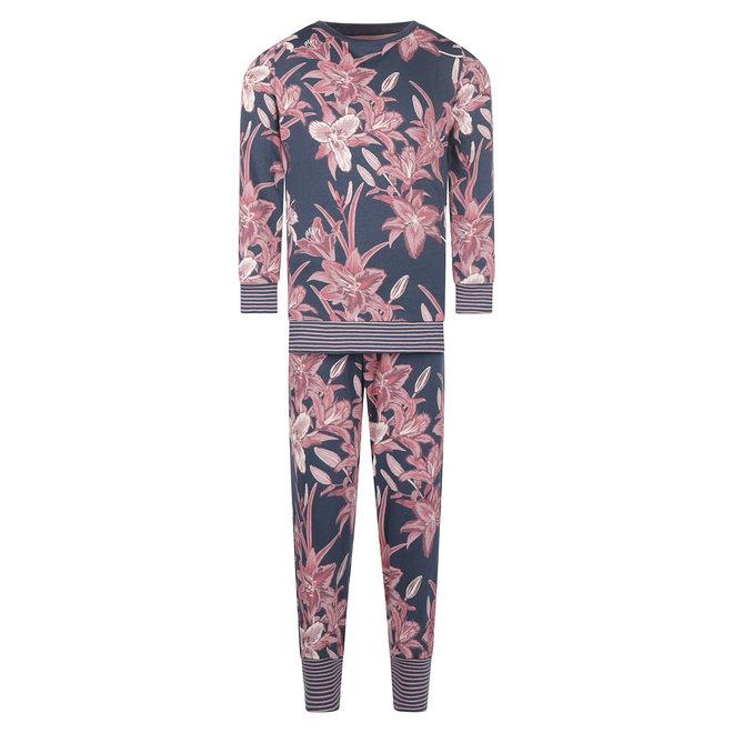 Charlie Choe Baby Mädchen Pyjama Set Blau Lily