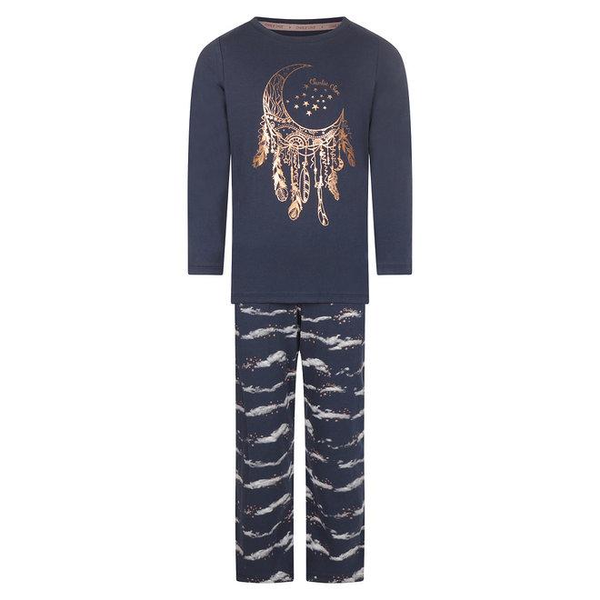 Charlie Choe Meisjes Pyjama Blauw Wolken