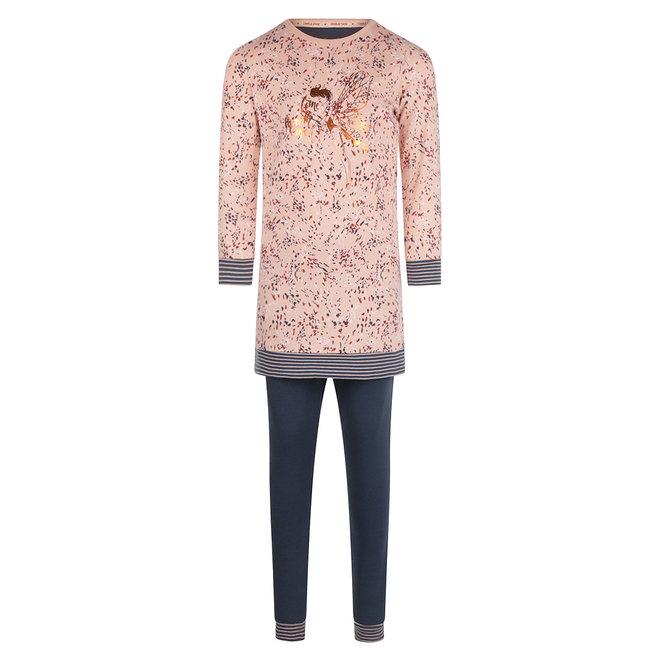 Charlie Choe Girls Pyjama Long Pullover Set Pink