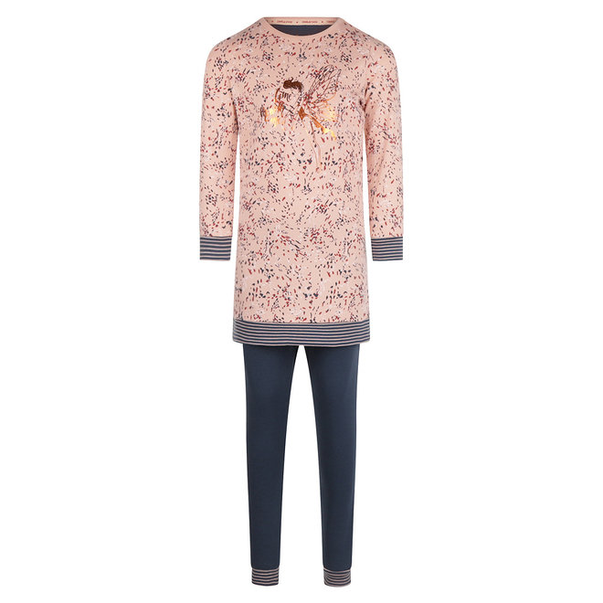 Charlie Choe Mädchen Pyjama Long Pullover Set Rosa