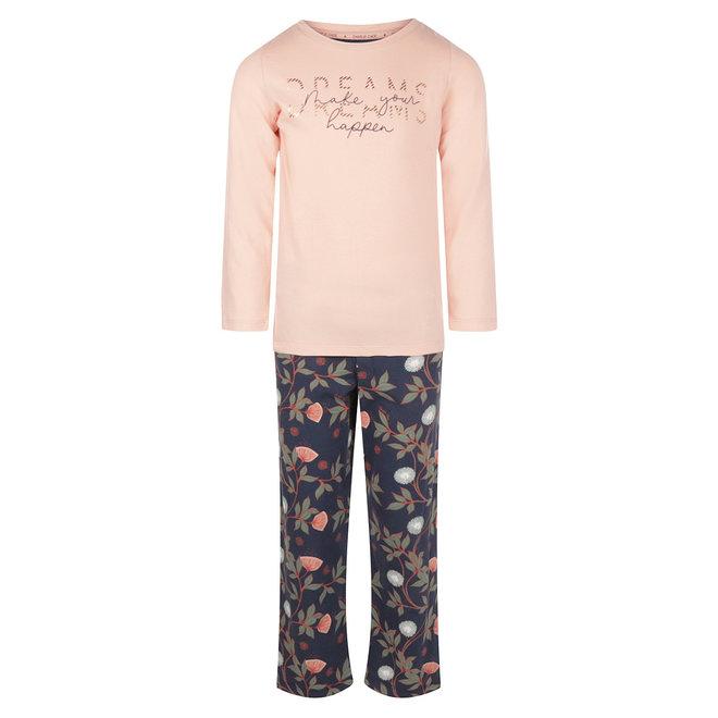 Charlie Choe Meisjes Pyjama Roze Blauw Bloemen