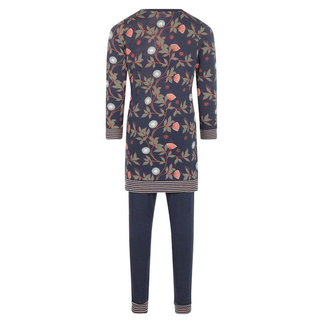 Charlie Choe Mädchen Pyjama Langer Pullover Set Blaue Blumen
