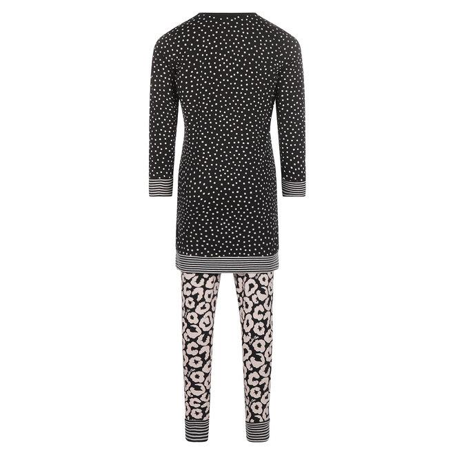 Charlie Choe Baby Girl Pyjama Long Pullover Set Black Panther