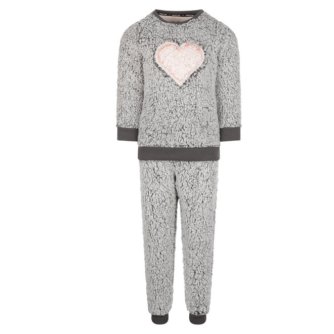 Charlie Choe Meisjes Pyjama Homewear Set Imitatiebont Grijs