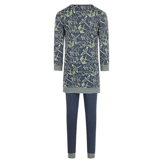 Charlie Choe Mädchen Pyjamas Langer Pullover Set Blau Mini Me