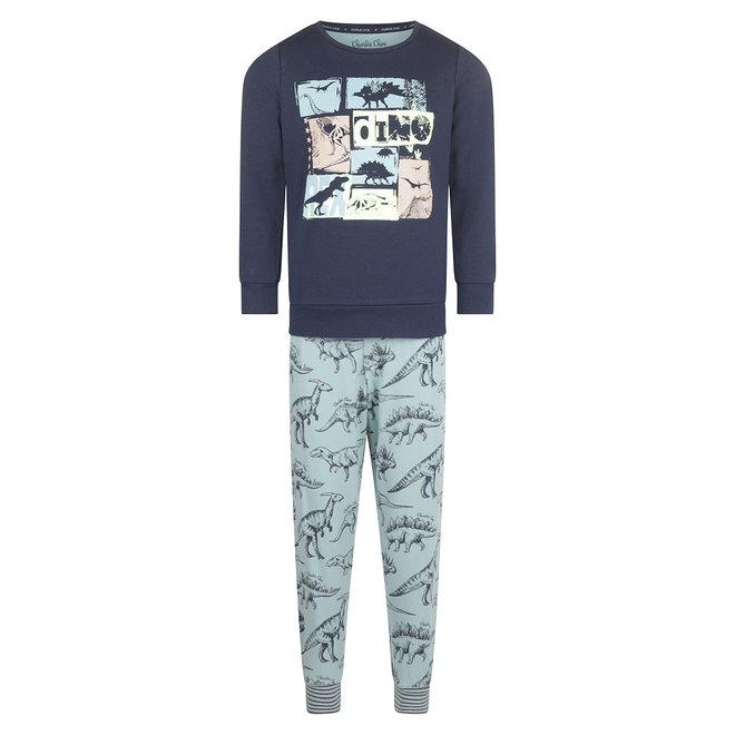 Charlie Choe Jongens Pyjama Lounge Set Blauw Dino