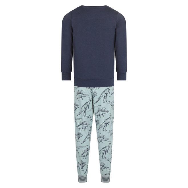 Charlie Choe Boys Pyjama Lounge Set Blue Dino