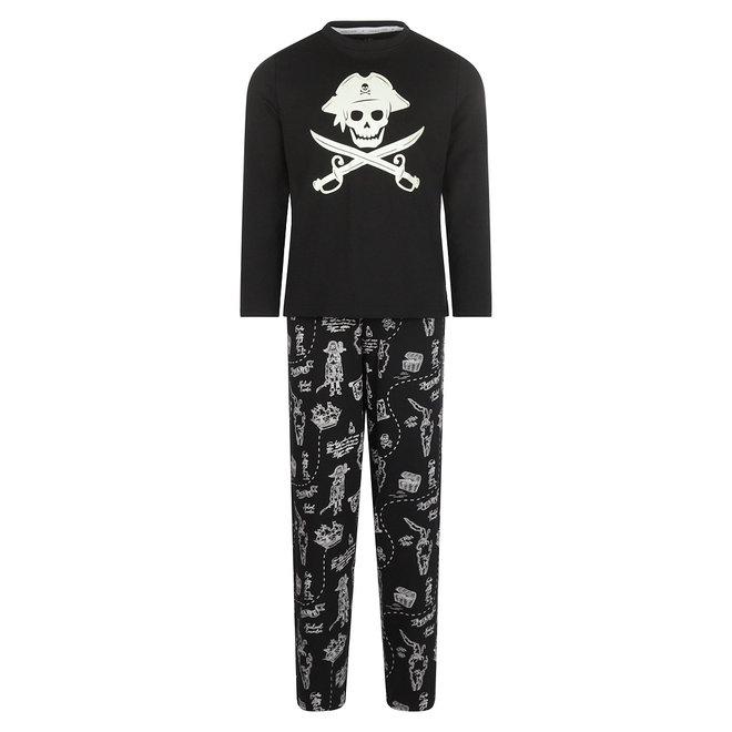 Charlie Choe Jongens Pyjama Set Zwart Piraat