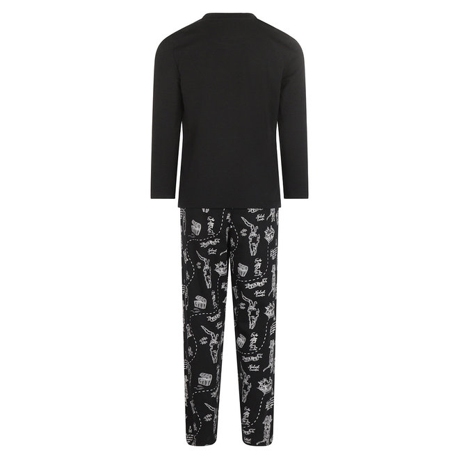 Charlie Choe Boys Pyjama Set Black Pirate